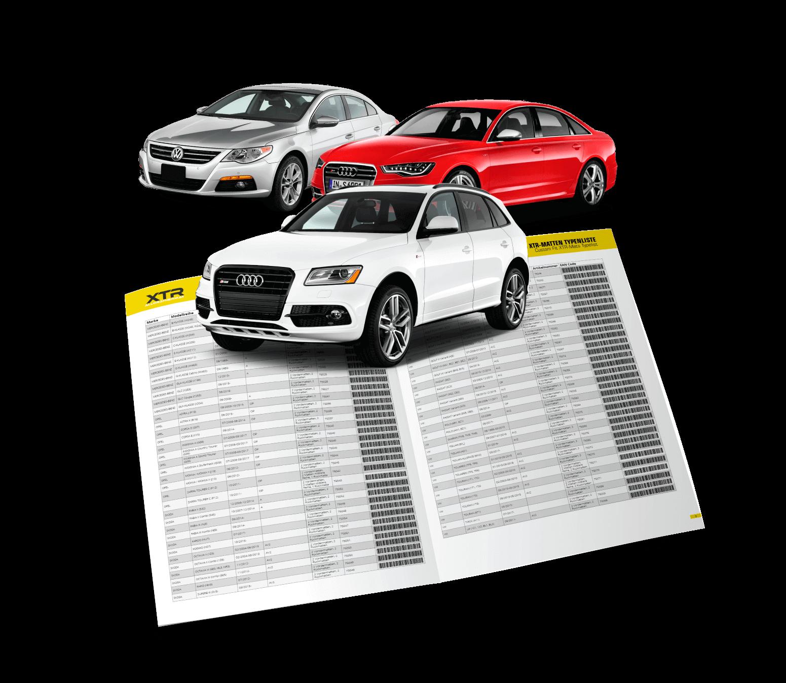 XTR - Car mats Type list