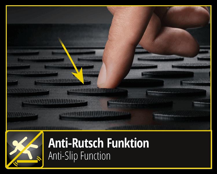 Anti-Rutsch Funktion der XTR - Automatten