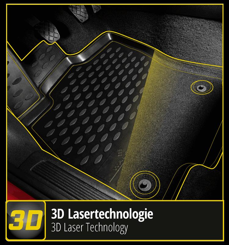 XTR - car mats with 3D laser technology